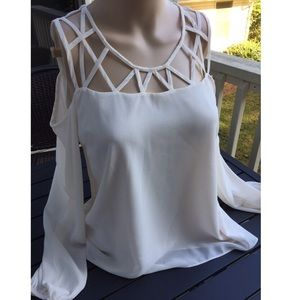 SHEER SILK TOP